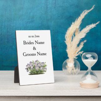 Veilchen-moderne einfache elegante Hochzeits-Ideen Fotoplatte