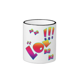 Vektor LoL! Ha ha-Comic-Sprache- Ringer Tasse