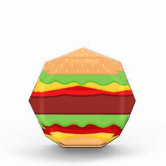 Vektorburger-Zeit-Hintergrund Auszeichnung