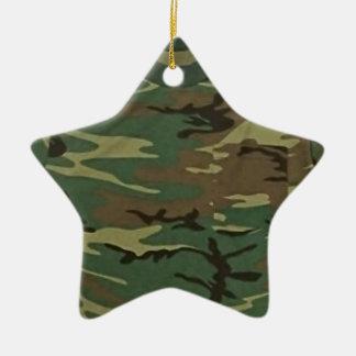 VektorCamouflage-Baum-Verzierung Keramik Stern-Ornament