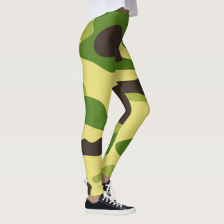 Vektorgrün-Tarnungs-Muster Leggings
