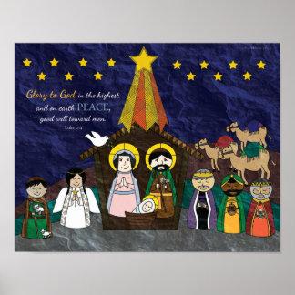 Vektorillustration der WeihnachtsGeburt Poster