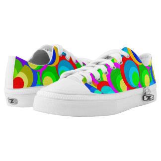 Vektornahtloses Muster Niedrig-geschnittene Sneaker
