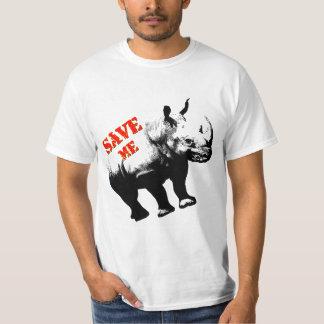 VektorSilhouetteRhino retten mich T-Shirt