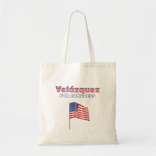 Velázquez für Kongress-patriotische amerikanische  Tragetasche