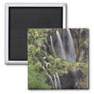 Veliki Klaps (Wasserfall) Plitvice Seen national Quadratischer Magnet