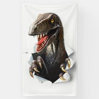 Velociraptor-Dinosaurier-Fahne Banner