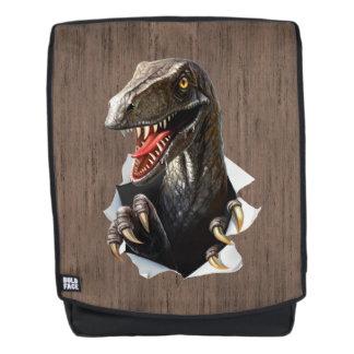 Velociraptor-Dinosaurier-Schrift-Rucksack Rucksack