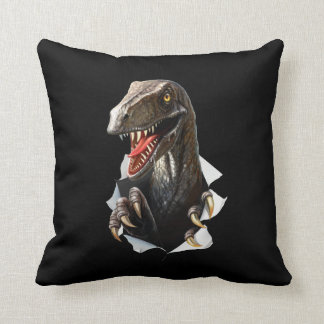 Velociraptor-Dinosaurier-Wurfs-Kissen Kissen