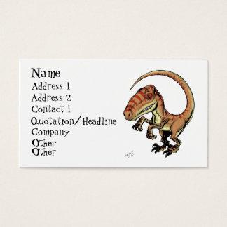 Velociraptor-Raubvogel-Dinosaurier durch Marco D Visitenkarte