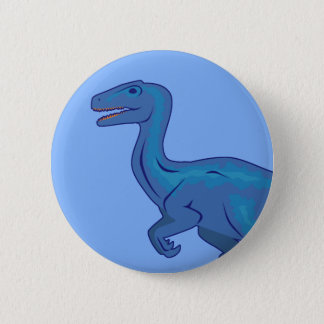 Velociraptor Runder Button 5,7 Cm