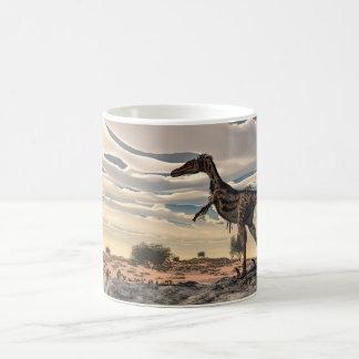 Velociraptordinosaurier - 3D übertragen Kaffeetasse