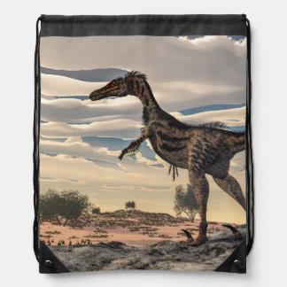 Velociraptordinosaurier - 3D übertragen Turnbeutel