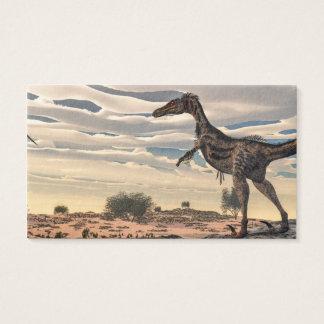Velociraptordinosaurier - 3D übertragen Visitenkarte