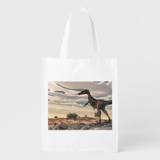 Velociraptordinosaurier - 3D übertragen Wiederverwendbare Einkaufstasche