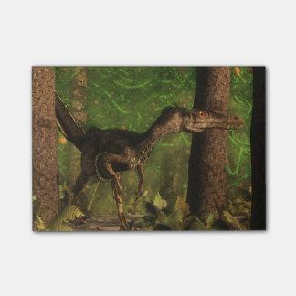 Velociraptordinosaurier im Wald Post-it Klebezettel