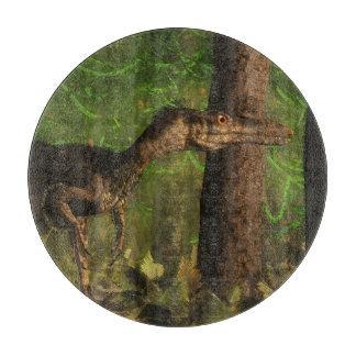 Velociraptordinosaurier im Wald Schneidebrett