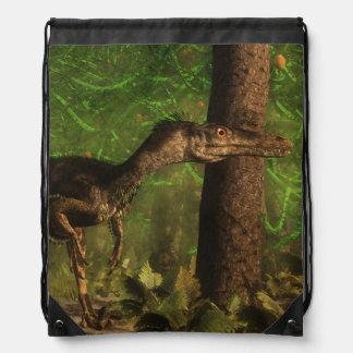 Velociraptordinosaurier im Wald Sportbeutel