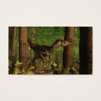 Velociraptordinosaurier im Wald Visitenkarte