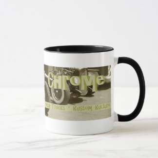 Veloursleder-und Chrom-Tasse 1 Tasse