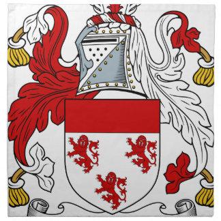 Velverton Familien-altes Wappen Familienwappen Stoffserviette