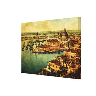 Venedig beobachtete leinwanddruck