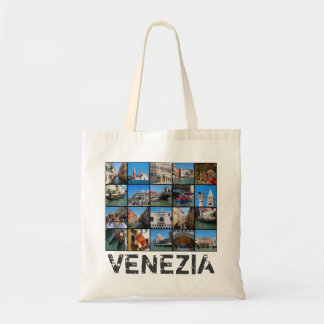 Venedig-Collage Budget Stoffbeutel