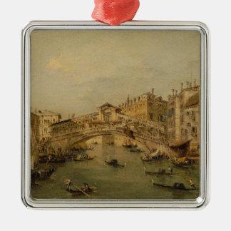 Venedig das Rialto Silbernes Ornament