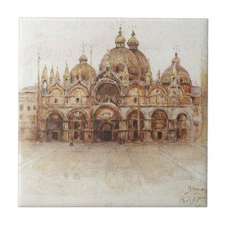Venedig. Die Basilika des Heiligen Kennzeichens. Fliese