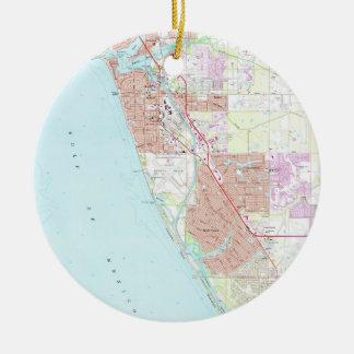 Venedig Florida Map (1973) Keramik Ornament