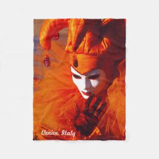 Venedig, Italien (IT) - orange Karnevals-Kostüm Fleecedecke