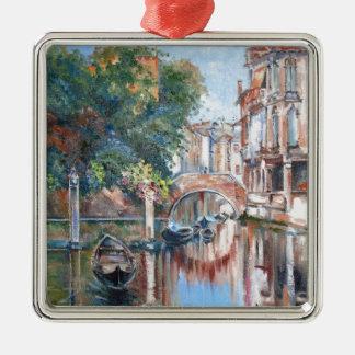 Venedig-Kanäle Silbernes Ornament