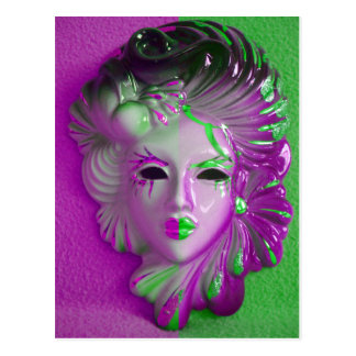 Venedig-Karnevals-Maske ELF Postkarte