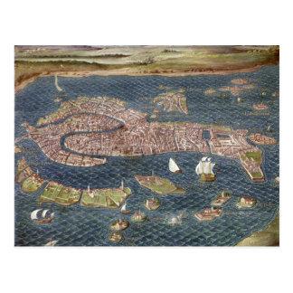 VENEDIG: KARTE, 16. Jahrhundert Postkarte