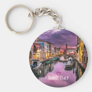 Venedig, landschaftlicher Kanal Italiens u. Schlüsselanhänger