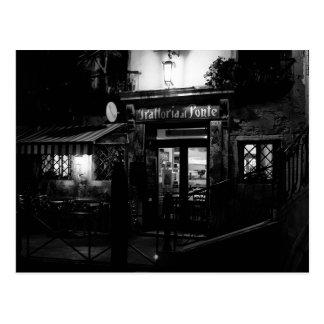 Venedig-Restaurant nachts Postkarte