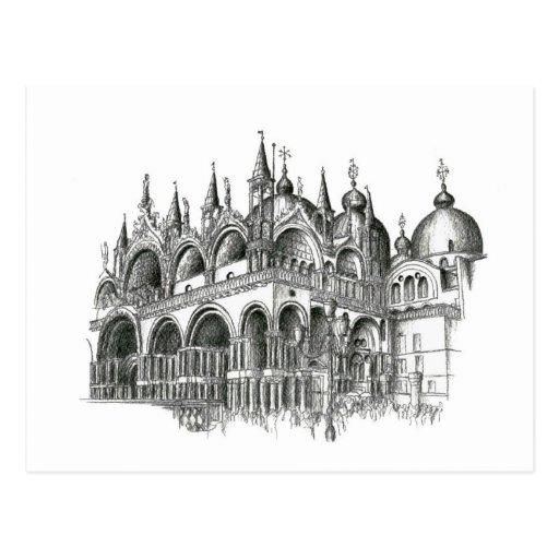 Venedig San Marco Postkarte