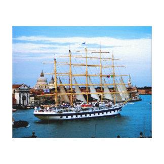 Venedig-Segelschiff Leinwanddruck