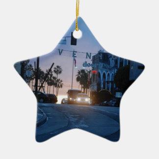 Venedig-Sonnenuntergang Keramik Stern-Ornament