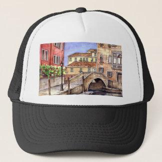 Venedig - Stift-u. Wäsche-Aquarell Truckerkappe