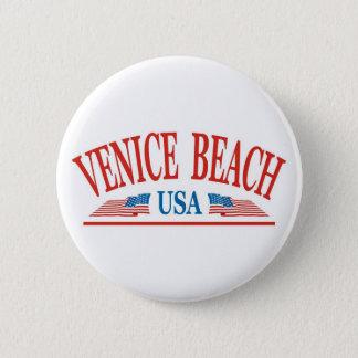 Venedig-Strand Kalifornien USA Runder Button 5,7 Cm