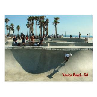 Venedig-Strand-Skateboarding Postkarte! Postkarte