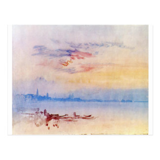Venedig, vom Guidecca Ost vorbei schauend, Postkarte