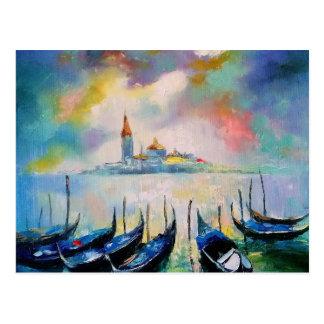 Venedig vor Regen Postkarte