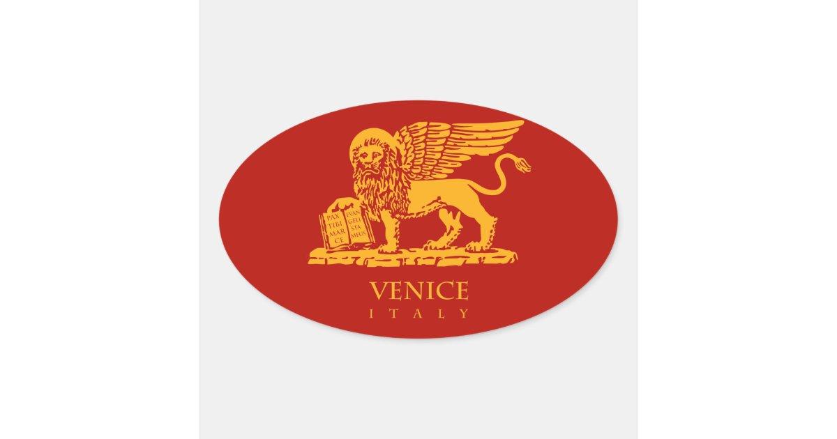 Venedig-Wappen Ovaler Aufkleber   Zazzle.de