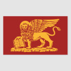 Venedig-Wappen Rechteckiger Aufkleber