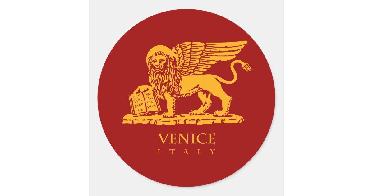 Venedig-Wappen Runder Aufkleber   Zazzle.de