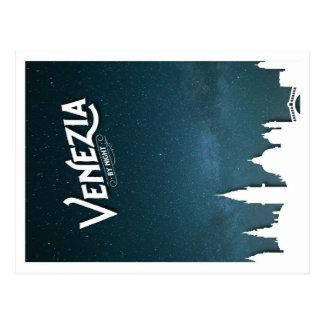 Venezia bis zum Nacht - Postkarte