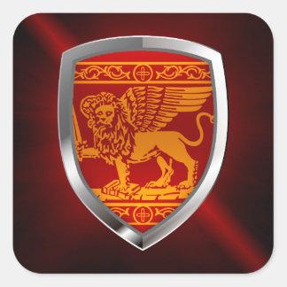 Venezia Mettalic Emblem Quadratischer Aufkleber