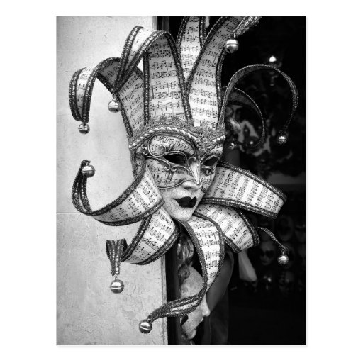 Venezianische Carnevale Masken-Postkarte